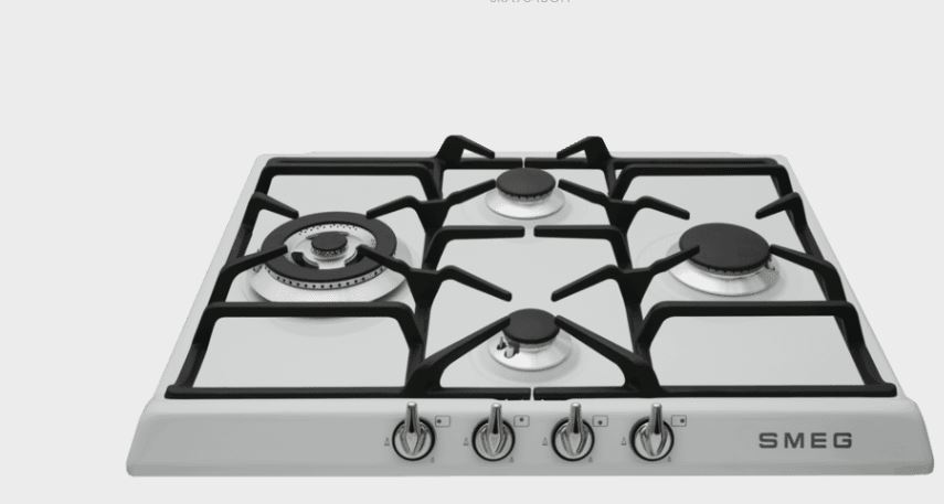 Smeg White enamel  60cm Gas Cooktop