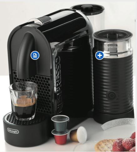 Nespresso Breville Citiz and Milk Capsule Machine - Chrome