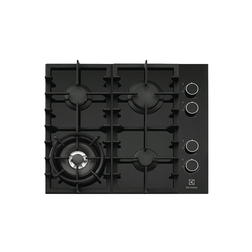 Electrolux 60cm Gas Cooktop Black