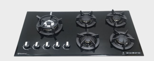 Goldline GLDUAL5BZNG-CAST Avard 93cm Gas Cooktop