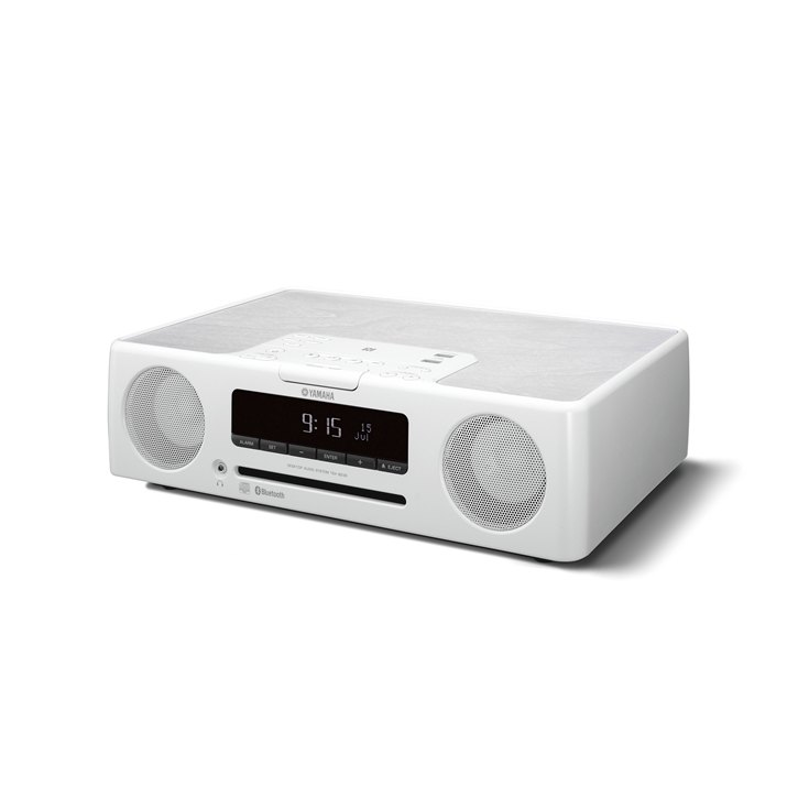 Yamaha Bluetooth speaker with clock/alarm (White) TSXB235D