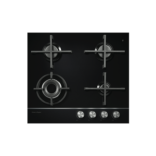 Fisher & Paykel 60cm Gas Cooktop Black