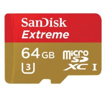 SanDisk Extreme MicroSDXC 64GB 90MB/s memory card   SKU: 728567