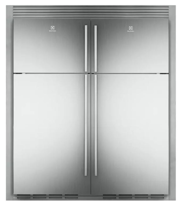F & P French Door Fridge, 900mm, 614L Ice