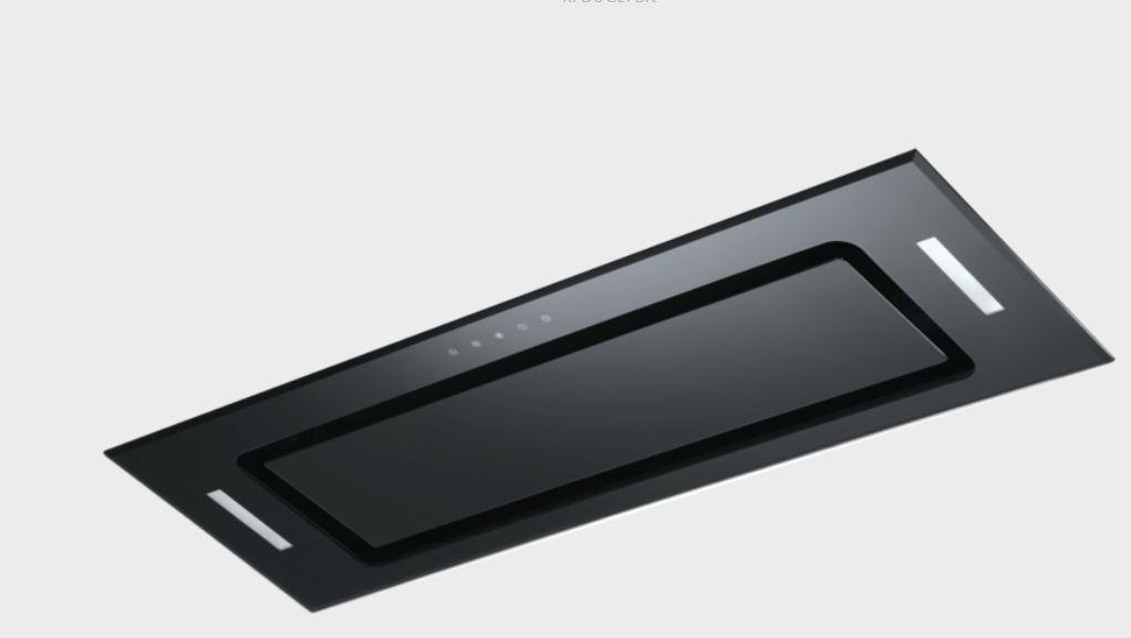 Robinhood 90cm Undermount Rangehood - Black Glass RPD3CL9BK