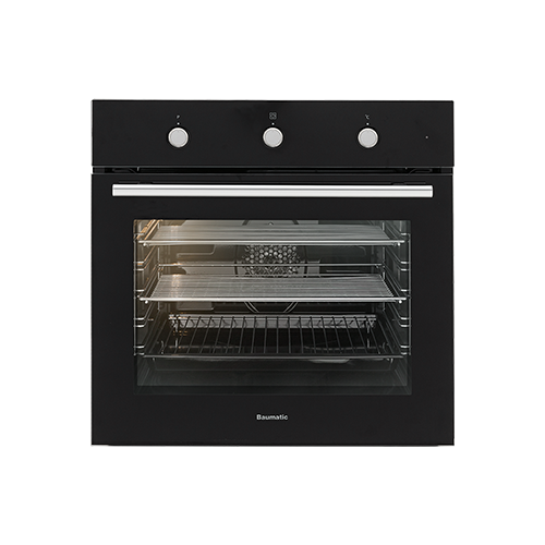 Baumatic 5 Function Electric Oven - Black / SS