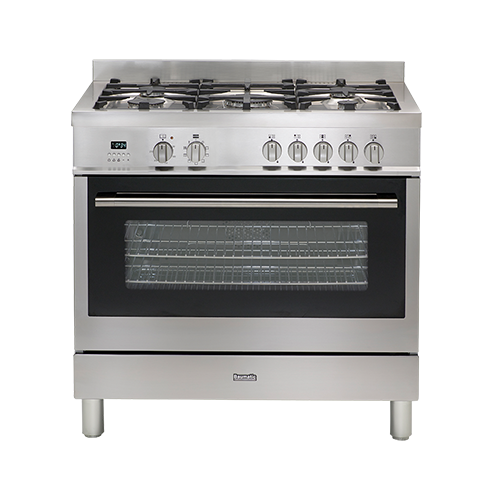 Baumatic 90cm Dual Fuel Oven SS