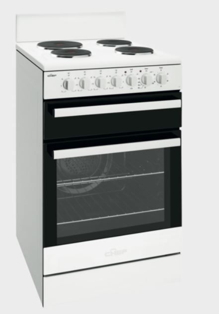 Euromaid  Upright Electric Oven + Coil Cooktop